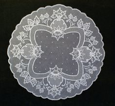 Bobbin Lace Patterns, Tambour Embroidery, Crocheting, Tulle Lace, White Embroidery, Ceilings