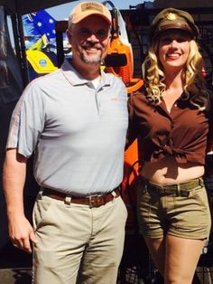 Me and Miss Amber the Bomber girl at the National Championship Air Race in Reno Nevada