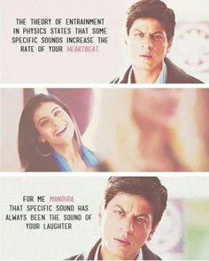 I love you forever Khan <3! One of the best SRK lines :-* :-* though i am afraid of falling for love but this man makes me feel that love is everything ! Love you khan :-*