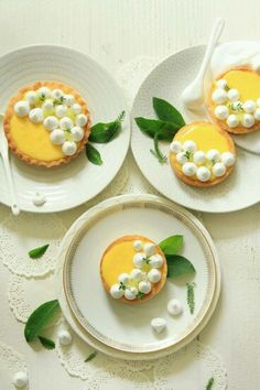 Lemon curd tartlets.