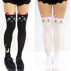 Sailor Moon / Luna collants, bas, collants (Cosplay, Anime, Kawaii, Alternative)