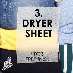 Add a dryer sheet to your suitcase to keep clothes smelling clean. | Make Traveling Stress-Free With These Space-Saving Packing Hacks