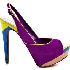 Jessica Simpson Shavon - Ultra Violet Suede ($99) ❤ liked on Polyvore