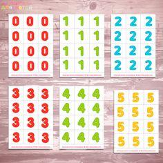 """Cчетный материал по математике, раздаточный материал для детского сада """"Цифры и счет до 10"""" скачать бесплатно"""