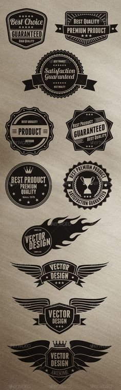 Badges Design #vector #eps #product #web • Available here → https://graphicriver.net/item/badges-design/6498350?ref=pxcr