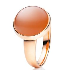 CAPOLAVORO Velluto Ring orange Moonstone 18kt Rosegold