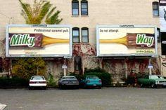 Milky Way. Do not attempt. Contextual Advertising, Billboard Design, Milky Way, Pushing Boundaries, Mars, Creative, Caramel, Projects, Poster