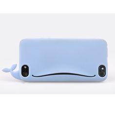 iPhone-4S-5-5S-6-Housse-etui-coque-silicone-gel-souple-portefeuille-bouche-case