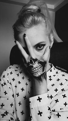 Skull Series: #3 Skeleton Mouth Hand Painting by evil-radiator.deviantart.com on @DeviantArt