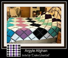 Thank you for considering one of our Corner to Corner (C2C) crochet graphs and instructions. The argyle pattern has been around since before the 17th century and has gained popularity in the USA steadily since the early 1900's Now you can crochet up this gorgeous pattern to give your bedroom that