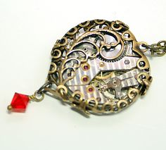 Steampunk Necklace Timeless Love Steampunk Jewelry by DesignsBloom