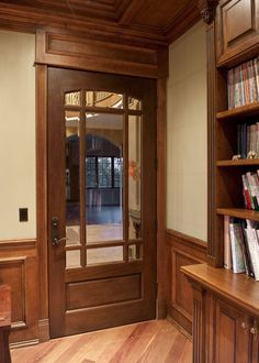 Classic Mahogany Solid Wood Front Entry Door - Single - DBI-511