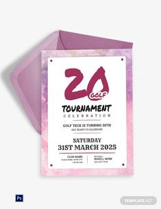 Golf Tournament Celebration Invitation