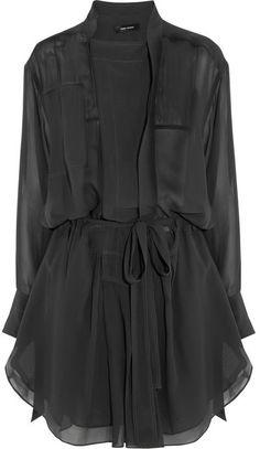 Isabel Marant Carla silk-georgette mini dress