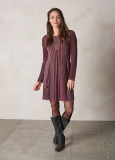 Burgundy | Whitley Dress | prAna Outdoorsy Style, Outdoorsy Fashion, Business Casual Outfits, Burgundy, Cold Shoulder Dress, My Style, Tees, Sweaters, Jackets