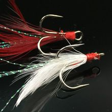 20pcs/lot Fishing Sharp Triple Stronger Barbed Treble Hooks With Feather Fishhook Fishing tackle  $US $8.90 & FREE Shipping //   http://fishinglobby.com/20pcslot-fishing-sharp-triple-stronger-barbed-treble-hooks-with-feather-fishhook-fishing-tackle/    #fishingreels