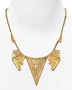 House of Harlow Chevron 5-Station Necklace,  $225.00