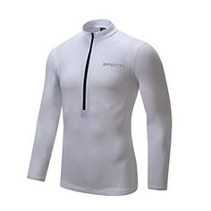 Spotti Mens Long Sleeve Cycling Jersey bike biking Shirt  Breathable and Quick Dry -- You can find out more details at the link of the image. (Note:Amazon affiliate link)