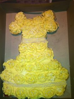 Princess or Wedding Dress Cupcake Cake