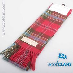 MacLean of Duart Weathered Lambswool Tartan Scarf. Free worldwide shipping available