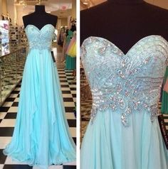 Chiffon Sweetheart Beading Prom Dresses,Evening Gowns,Evening Dress,BG49