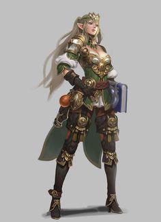 f High Elf Wizard Fighter multi-class Plate Armor Magic Book midlvl