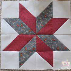 LeMoyne Star Quilt Block | FaveQuilts.com