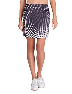 63a0e7e40878c1 Tail Activewear Women's September Pull-On Skort Vitality Print X-Large  Vitality Print - Grey & White at Amazon Women's Clothing store: