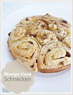 Mango Curd Schnecken