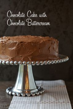 This chocolate cake is so rich and moist it's hard to tell it's grain free. I always frost my cakes with a classic buttercream. You just can't do much better than a sweet whipped butter frosting with chocolate.