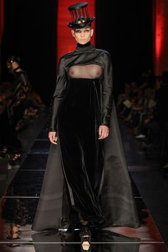 This is the stupidest dress, ever. Click for more bad Gaultier couture.