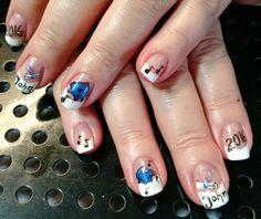 Graduation nail art by Heather Jenkins