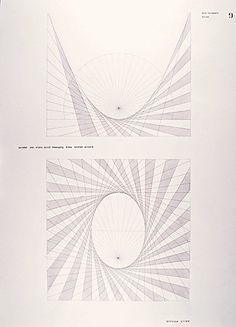 Parabola and ellipsis through a right-angled movement, academic year 1955–56 Lecturer: Hermann von Baravalle Student: Dominique Gilliard Photo: HfG Archive