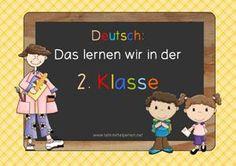 Lernziele Deutsch für die 2. Klasse.