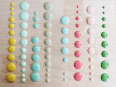DIY: Make Your Own Enamel Dots for scrapbooking - bluebird chic