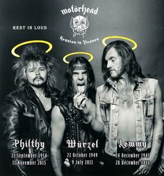 lemmy , Würzel & Philthy Animal Tayor - RIP Motörhead members