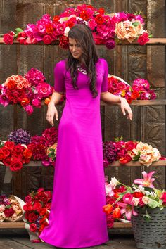 Magenta moments dress