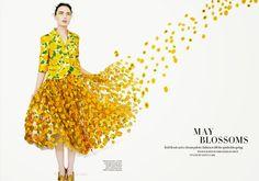 'May Blossoms.' Naty Chabanenko in Michael Kors photographed by Erik Madigan Heck for Harper's Bazaar UK, May 2015.