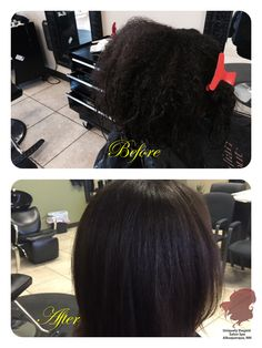 Before and After brazilian blowout coarse, very-curly hair, smooth and shine by: Hair Stylist Lene Ramirez of Uniquely Elegant Salon Spa in Albuquerque, NM 87113 See more at: http://www.uniquelyelegantsalon.com/haircuts-hairstyles-photos-albuquerque/