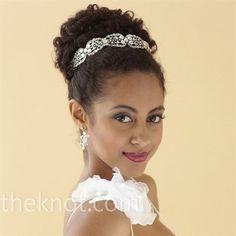 African American. Black Bride. Wedding Hair. Hairstyles.  Easy breezy updo