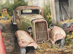 1934 Dodge Half-ton Painting by Sam Sidders - 1934 Dodge Half-ton Fine Art Prints and Posters for Sale