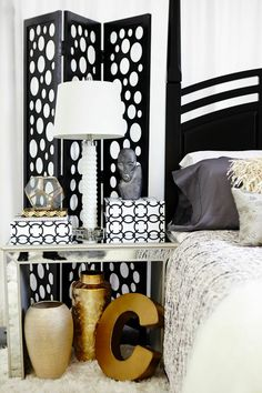 Black, white, gold and glam! HomeGoods by Fashion Bomb Daily on the blog!