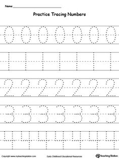 math worksheet : practice tracing numbers 5 9  tracing worksheets numbers and  : Number Writing Worksheets For Kindergarten