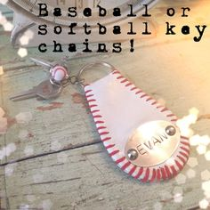 Baseball or softball keychain via Etsy