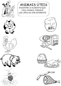Imagen relacionada School Plan, Down On The Farm, Busy Bee, Life Skills, Kids And Parenting, Animals And Pets, Worksheets, Coloring Books, Kindergarten