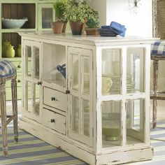 shabby chic painted and distressed furniture cabinets - loving it!