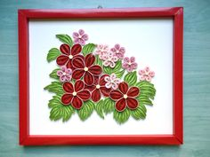Papírvilág: quilling virágos tabló / quilled picture with flowers Arte Quilling, Quilling Craft, Quilling Patterns, Quilling Designs, Paper Quilling, Quilling Ideas, Quilling Christmas, Christmas Tree, Paper Art