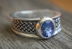 Natural Tanzanite silver ring 1.23ct Sterling Silver by ImaniGems