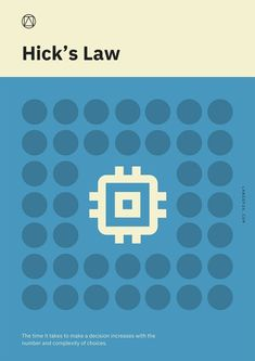 A handy guide for remembering Fitts's Law, Jakob's Law, and more.