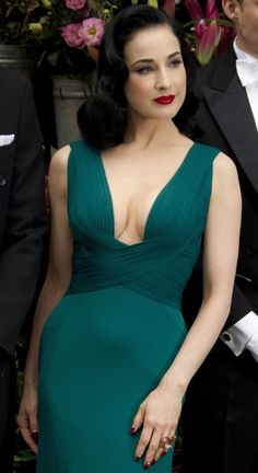 Dita wearing one of my favorite colors.  *Not sure if she is CW, but I find lots of inspiration from her looks.*